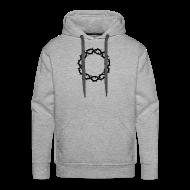 Pullover & Hoodies ~ Männer Premium Kapuzenpullover ~ Kapuzenpulli Dornenkrone schwarz (Farbwahl)