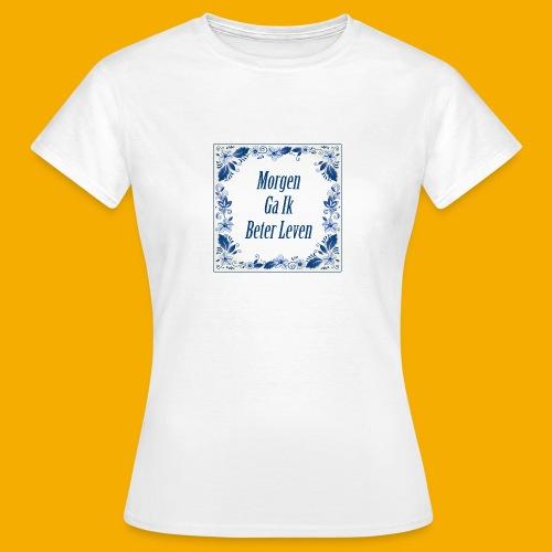 Delfts-blauw - voor & achter - Vrouwen T-shirt