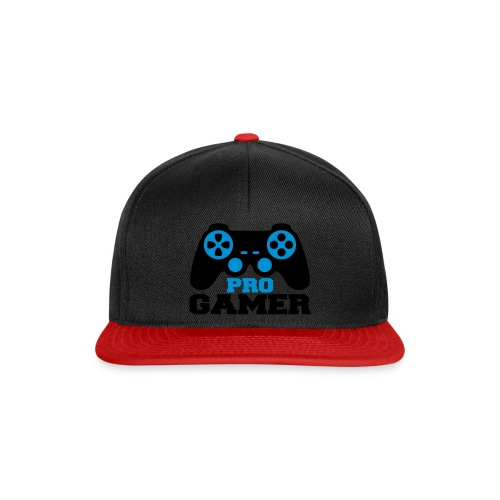 Black Red snpaback pro Gamer - Snapback Cap