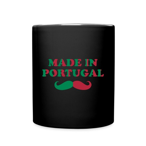 Tasse Couleur 'Made in Portugal avec Moustache - Mug uni