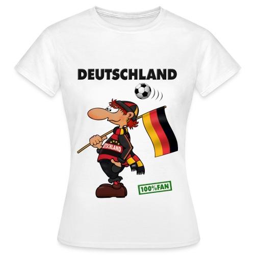 Fanshirt Deutschland - Red&Black Supporter - Frauen T-Shirt