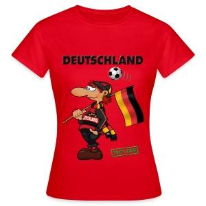 Fanshirt Red Deutschland - Red&Black Supporter - Frauen T-Shirt