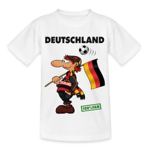 Fan Red Deutschland - Red&Black Supporter - Kinder T-Shirt