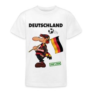 Fan Red Deutschland - Red&Black Supporter - Teenager T-Shirt