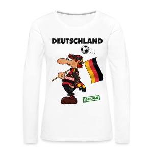 Fan Red Deutschland - Red&Black Supporter - Frauen Premium Langarmshirt