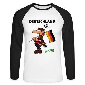 Fanshirt Deutschland - Red&Black Supporter - Männer Baseballshirt langarm