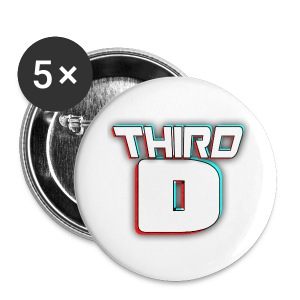 Third D Badge - Buttons large 56 mm