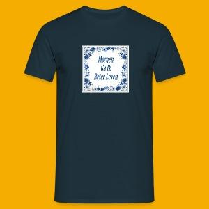 Blauw Delfts-blauw 2 zijdig - Mannen T-shirt
