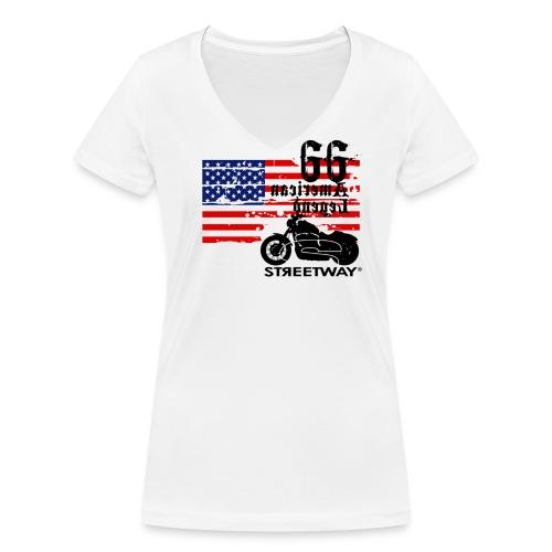 American Legend 66 - T-shirt bio col V Stanley & Stella Femme