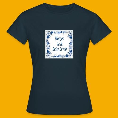 Blauw Delfts-blauw 2 zijdig - Vrouwen T-shirt