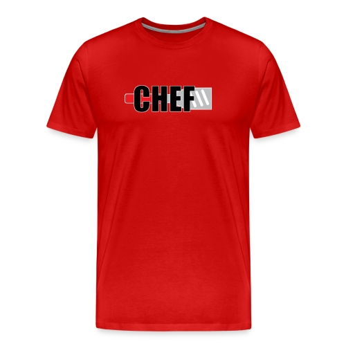 T-SHIRT CHEF ROUGE - T-shirt Premium Homme