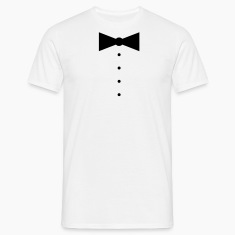 Simple Bow Tie & Shirt Buttons T-Shirts