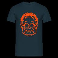 T-Shirts ~ Men's T-Shirt ~ Weldroid - Protozorq T-Shirt (Navy/Furnace Red)
