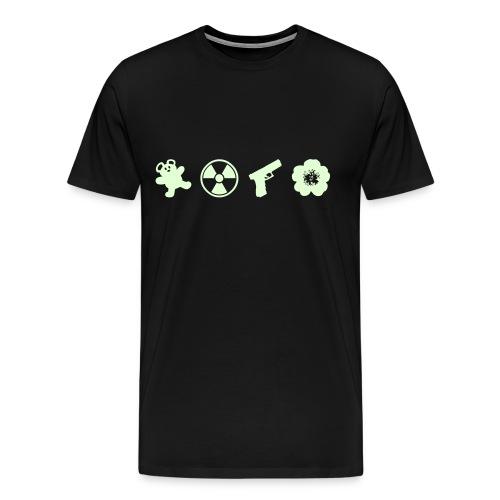 Northmoor 4 Icons Premium Glow in the Dark! - Men's Premium T-Shirt