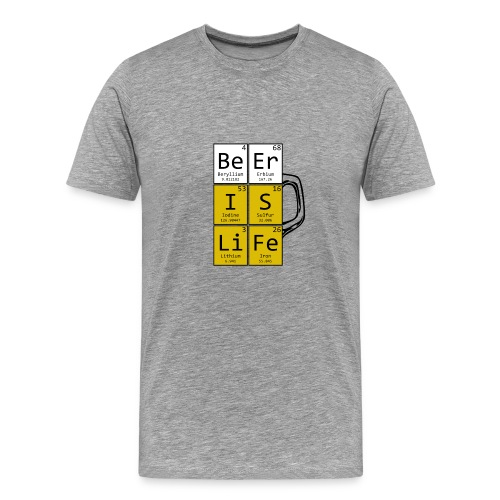 Beer Is Life Pint - T-shirt Premium Homme