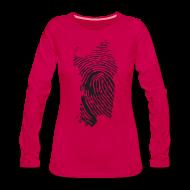 Maglie a manica lunga ~ Maglietta Premium a manica lunga da donna ~ Sardegna, Impronta digitale (glitter)