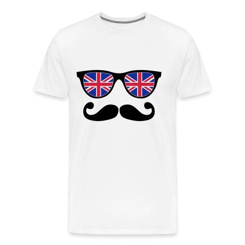 Tee shirt Lunette à moustache - T-shirt Premium Homme