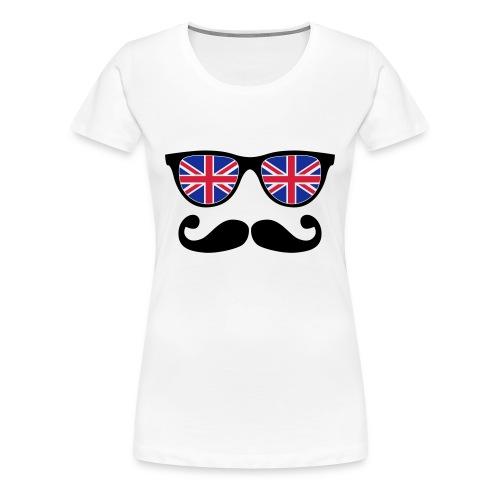 Tee shirt Lunette à moustache - T-shirt Premium Femme