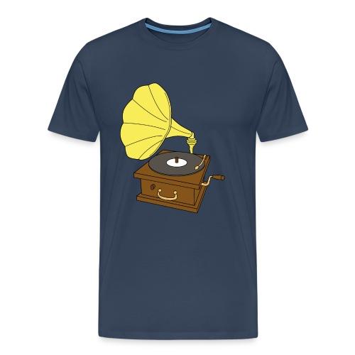 Record Player - Herre premium T-shirt