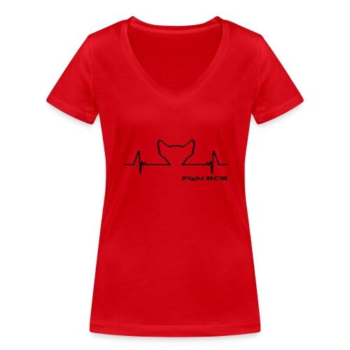 fight HCM  - T-shirt ecologica da donna con scollo a V di Stanley & Stella