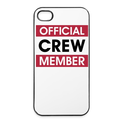 Cover Apple iPhone 4/4S 'Official Crew Member' - Custodia rigida per iPhone 4/4s