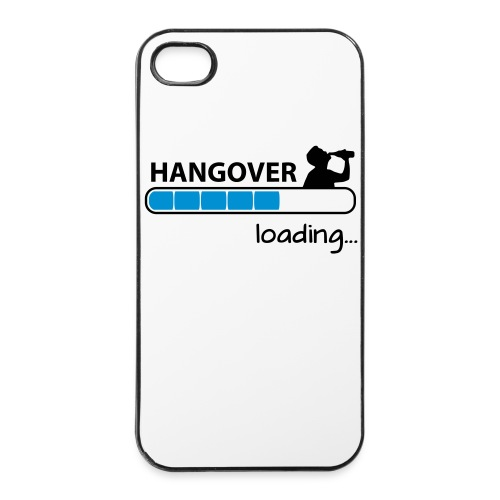Cover Apple iPhone 4/4S 'Hangover Loading' - Custodia rigida per iPhone 4/4s
