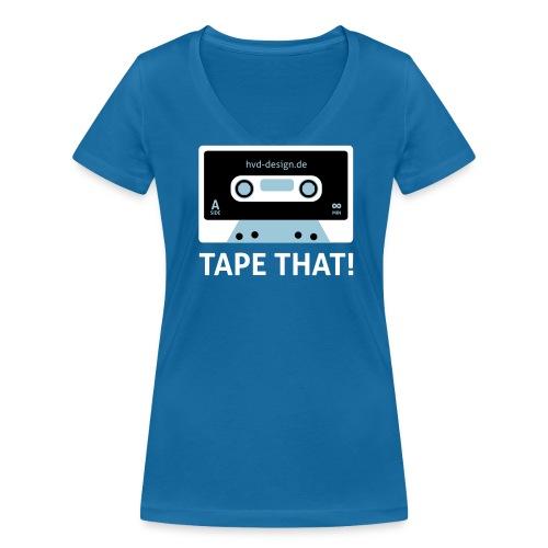 Tape That - Frauen Girlie - Frauen Bio-T-Shirt mit V-Ausschnitt von Stanley & Stella