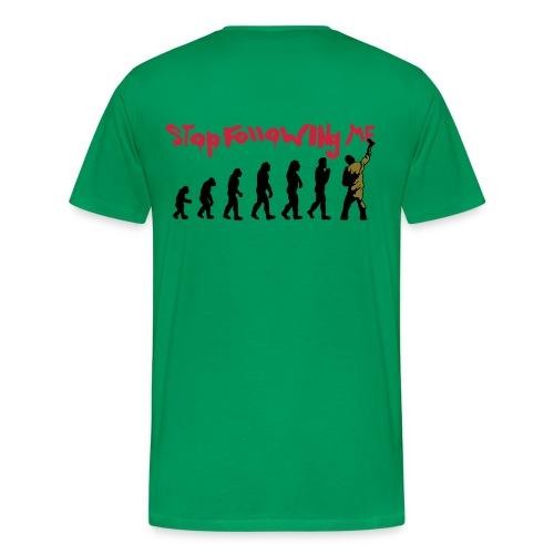 Stop following me - Herrer - Herre premium T-shirt