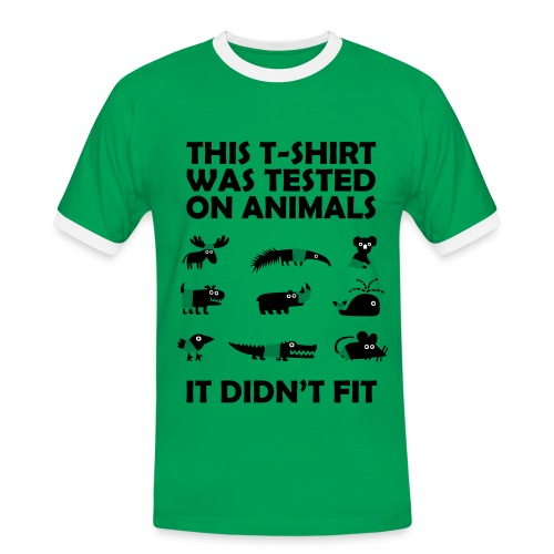 This shirt was tested on animals - Herrer - Herre kontrast-T-shirt