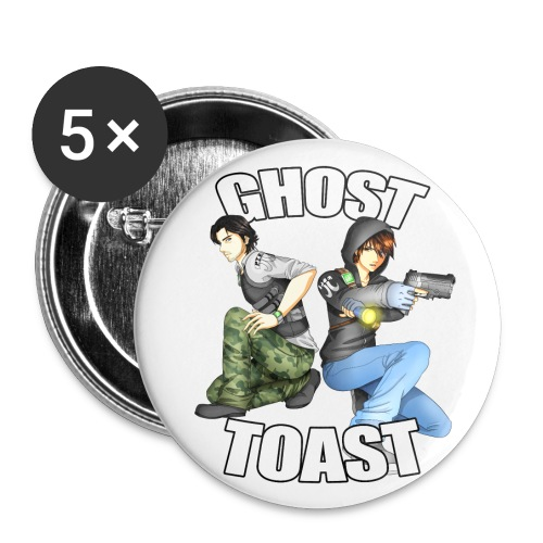 Ghost & Toast - Buttons large 2.2''/56 mm(5-pack)