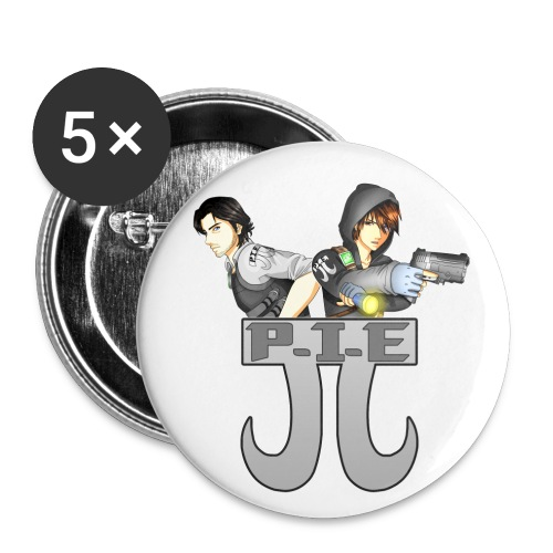 P.I.E. - Buttons large 2.2''/56 mm(5-pack)