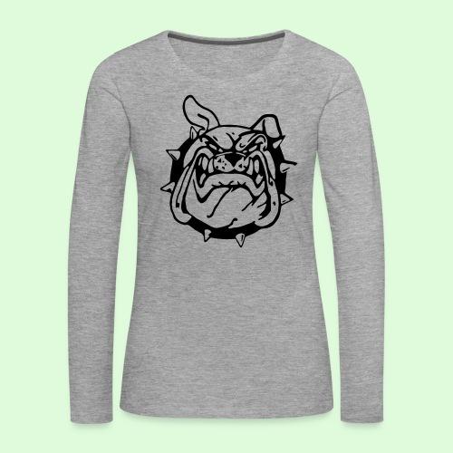 Le sourire du Bulldog - T-shirt manches longues Premium Femme