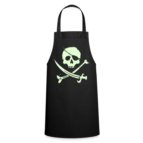 Pirate Crew (White print, glows green in the dark) - Apron - Keukenschort