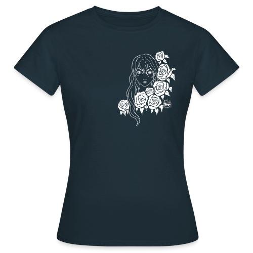 Frau-Rosen weiß - Frauen T-Shirt