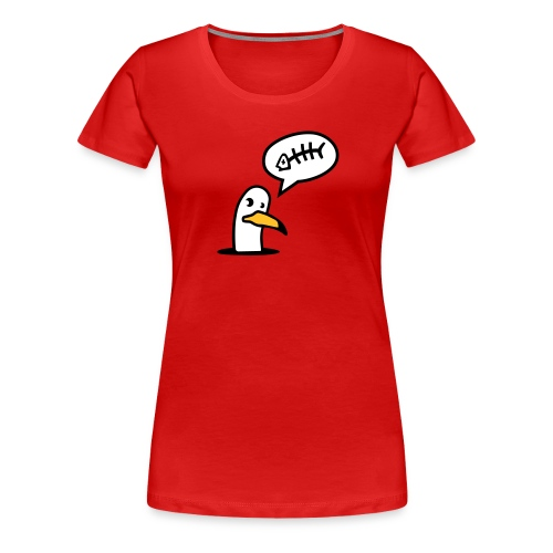 Women's Premium T-Shirt - spamfish,seagull