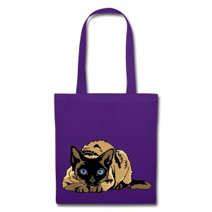 Sac shopping - chat yeux bleus - Tote Bag