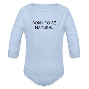 Born to be Natural - Baby bio-rompertje met lange mouwen