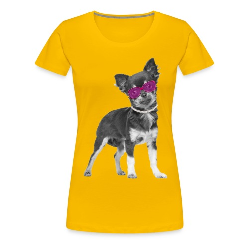 chihi brille  - Frauen Premium T-Shirt
