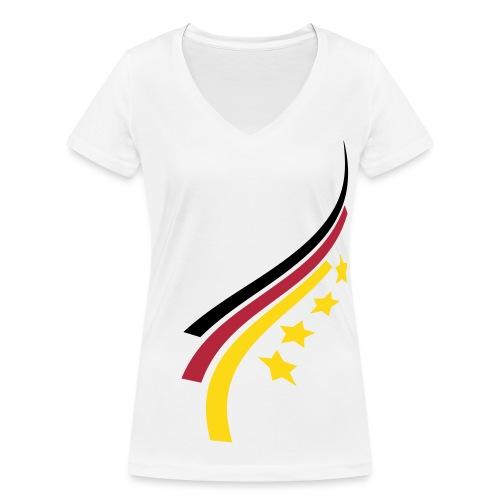Weltmeister 2014 - Frauen Bio-T-Shirt mit V-Ausschnitt von Stanley & Stella
