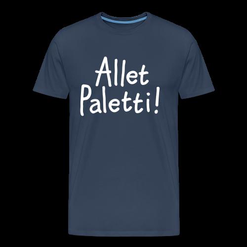 Allet Paletti T-Shirt (Herren Navy) - Männer Premium T-Shirt