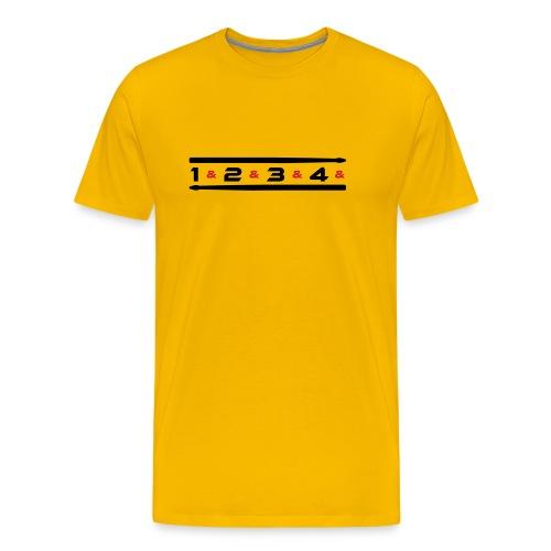 Counting 3 T-Shirts - Männer Premium T-Shirt