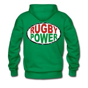 Basque rugby power - Sweat-shirt à capuche Premium pour hommes