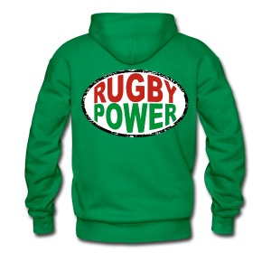 Basque rugby power - Sweat-shirt à capuche Premium pour hommes