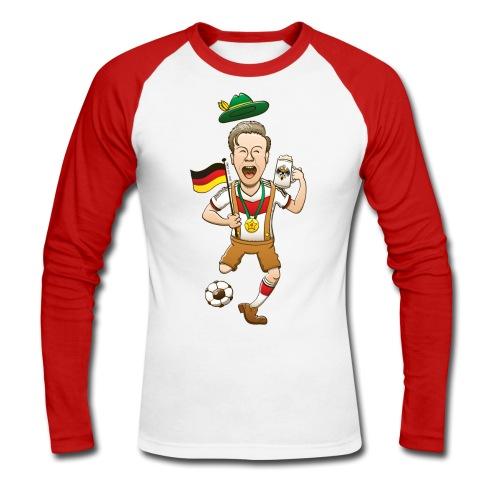 Germany is Four-time World Champion Long sleeve shirts - Men's Long Sleeve Baseball T-Shirt