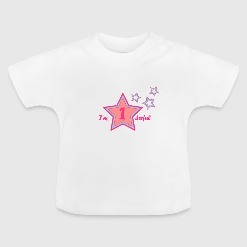 I'm onederful / wonderful first birthday Shirts - Baby T-shirt