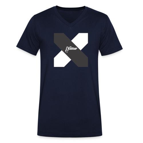 Tanz-Kultur Cross (Slim-Fit T-Shirt) Dark - Männer Bio-T-Shirt mit V-Ausschnitt von Stanley & Stella