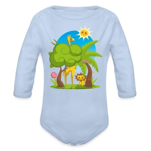 Body Jungle Animals - Organic Longsleeve Baby Bodysuit