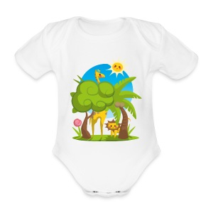 Body Jungle Animals - Organic Short-sleeved Baby Bodysuit