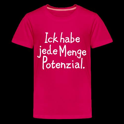 Berlin Teenager T-Shirt mit Potential (Pink) - Teenager Premium T-Shirt