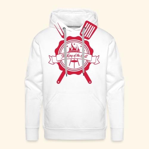 The king of the grill - Sweat-shirt à capuche Premium pour hommes